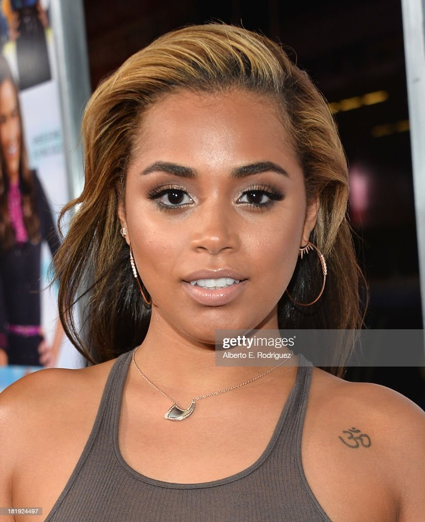 Actress Lauren London attends the premiere of Fox Searchlight Pictures' 'Baggage Claim' at Regal Cinemas L.A. Live on September 25, 2013 in Los Angeles, California.