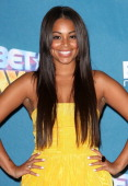 Actress Lauren London in the press room at the 2008 BET Awards at the Shrine Auditorium on June 24 2008 in Los Angeles California