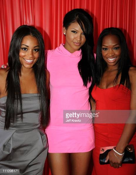 Actress Lauren London Singer Cassie and Malika Haqq arrive at the 2008 BET Awards at the Shrine Auditorium on June 24 2008 in Los Angeles California