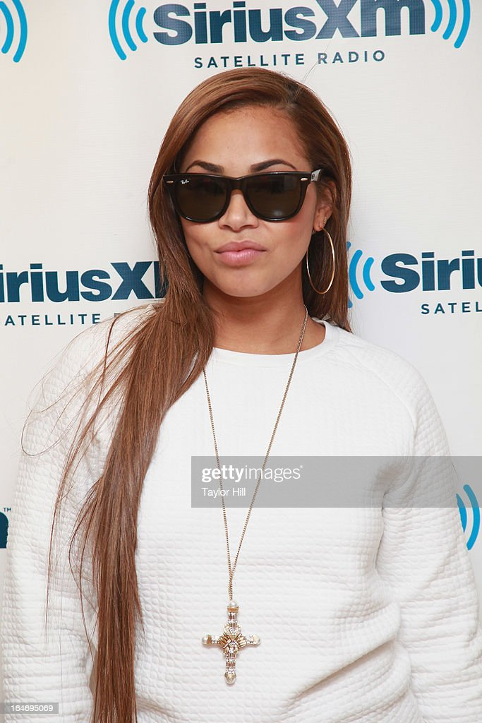 Actress Lauren London visits the SiriusXM Studios on March 26, 2013 in New York City.