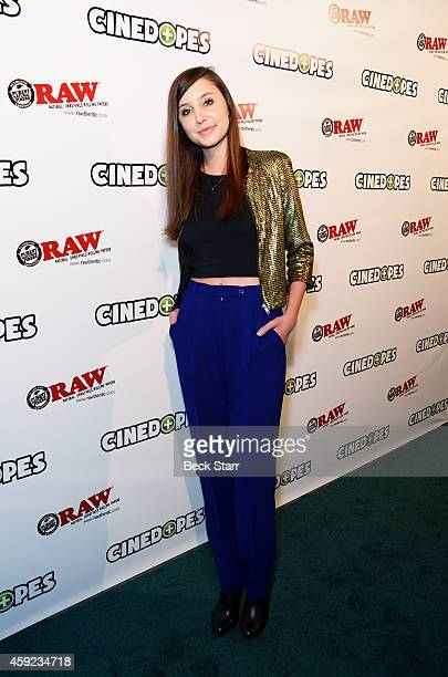 Actress Lauren Marie arrives at 'Cinedopes' webisode series Los Angeles premiere at Busby's East on November 18 2014 in Los Angeles California