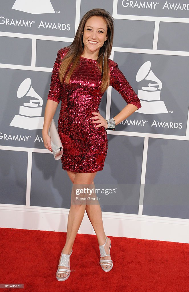 Actress Lauren Mayhew attends the 55th Annual GRAMMY Awards at STAPLES Center on February 10, 2013 in Los Angeles, California.
