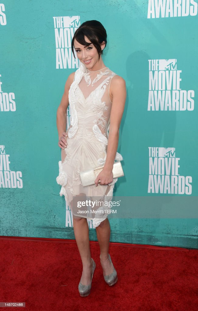 Actress Lauren Mcknight arrives at the 2012 MTV Movie Awards held at Gibson Amphitheatre on June 3, 2012 in Universal City, California.