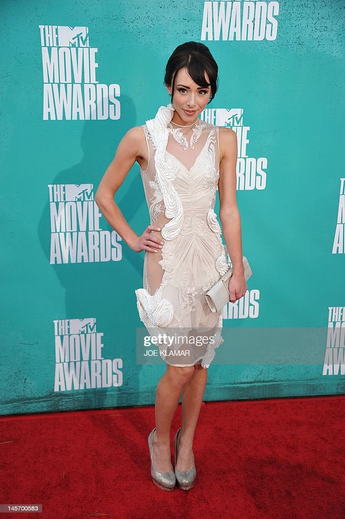 Actress Lauren McKnight arrives at the MTV Movie Awards at Universal Studios, in Los Angeles, California, on June 3, 2012. AFP PHOTO / JOE KLAMAR