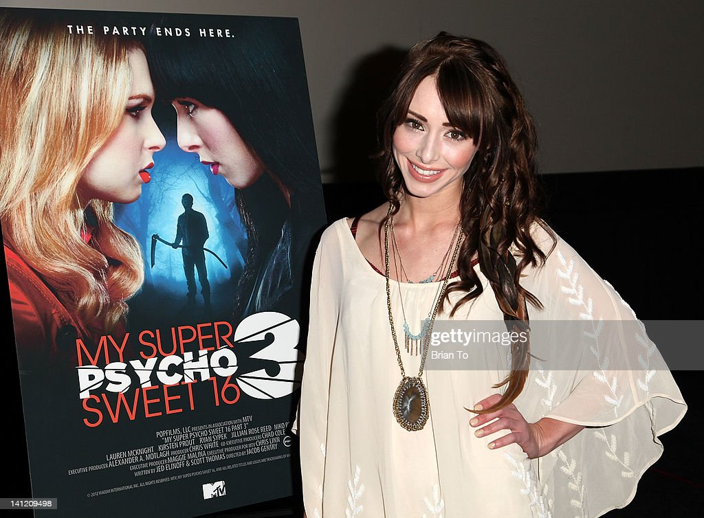 Actress <a gi-track='captionPersonalityLinkClicked' href=/galleries/search?phrase=Lauren+McKnight&family=editorial&specificpeople=5409280 ng-click='$event.stopPropagation()'>Lauren McKnight</a> attends MTV's 'My Super Psycho Sweet Sixteen 3' private pre-screening at ArcLight Cinemas Cinerama Dome on March 12, 2012 in Hollywood, California.