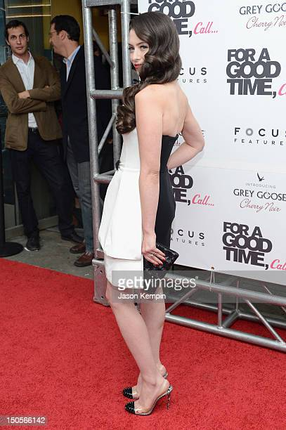 Actress Lauren Miller attends the 'For A Good Time Call' premiere at Regal Union Square on August 21 2012 in New York City