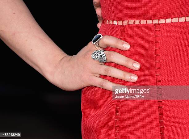 Actress Lauren Miller attends Universal Pictures' 'Neighbors' premiere at Regency Village Theatre on April 28 2014 in Westwood California