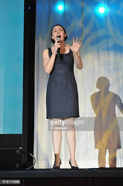 Actress Lauren Patten performs onstage at PFLAG National's eighth annual Straight for Equality awards gala at Marriot Marquis on April 4 2016 in New...