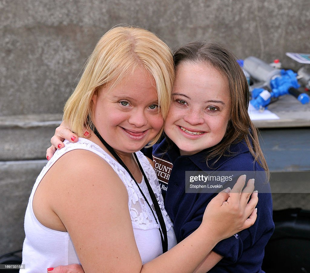 Actress <a gi-track='captionPersonalityLinkClicked' href=/galleries/search?phrase=Lauren+Potter&family=editorial&specificpeople=7243163 ng-click='$event.stopPropagation()'>Lauren Potter</a> (L) and Best Buddies International ambassador Katie Meade attend the Tom Brady Football Challenge for the Best Buddies Challenge: Hyannis Port on May 31, 2013 in Boston, Massachusetts.