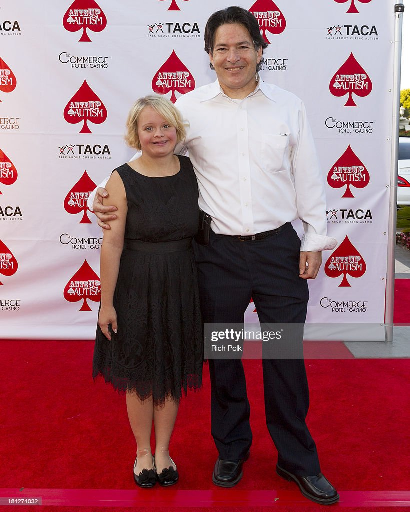 Actress <a gi-track='captionPersonalityLinkClicked' href=/galleries/search?phrase=Lauren+Potter&family=editorial&specificpeople=7243163 ng-click='$event.stopPropagation()'>Lauren Potter</a> (L) arrives at the 7th Annual Ante Up For Autism Event At The St. Regis Monarch Beach Resort on October 12, 2013 in Dana Point, California.