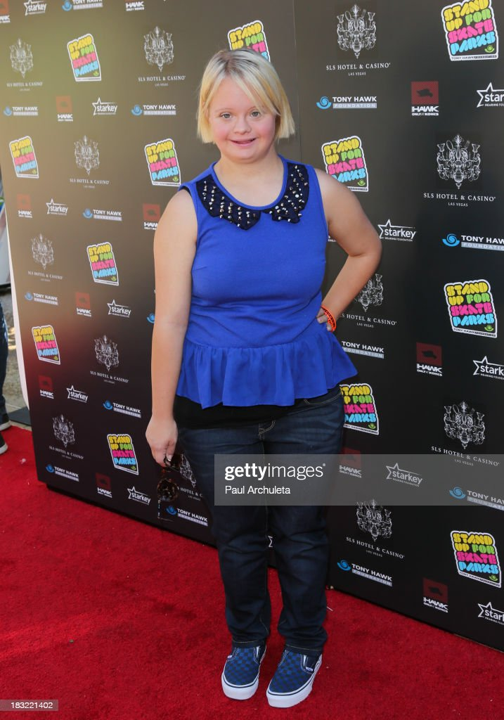 Actress <a gi-track='captionPersonalityLinkClicked' href=/galleries/search?phrase=Lauren+Potter&family=editorial&specificpeople=7243163 ng-click='$event.stopPropagation()'>Lauren Potter</a> attends the 10th Annual Stand Up For Skateparks benefiting the Tony Hawk Foundation on October 5, 2013 in Beverly Hills, California.