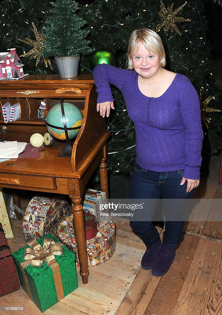 Actress Lauren Potter attends the Westminster Mall's Caring Santa event on December 2, 2012 in Westminster, California.