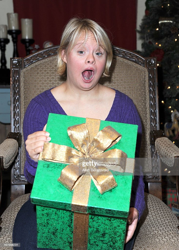 Actress <a gi-track='captionPersonalityLinkClicked' href=/galleries/search?phrase=Lauren+Potter&family=editorial&specificpeople=7243163 ng-click='$event.stopPropagation()'>Lauren Potter</a> attends the Westminster Mall's Caring Santa event on December 2, 2012 in Westminster, California.