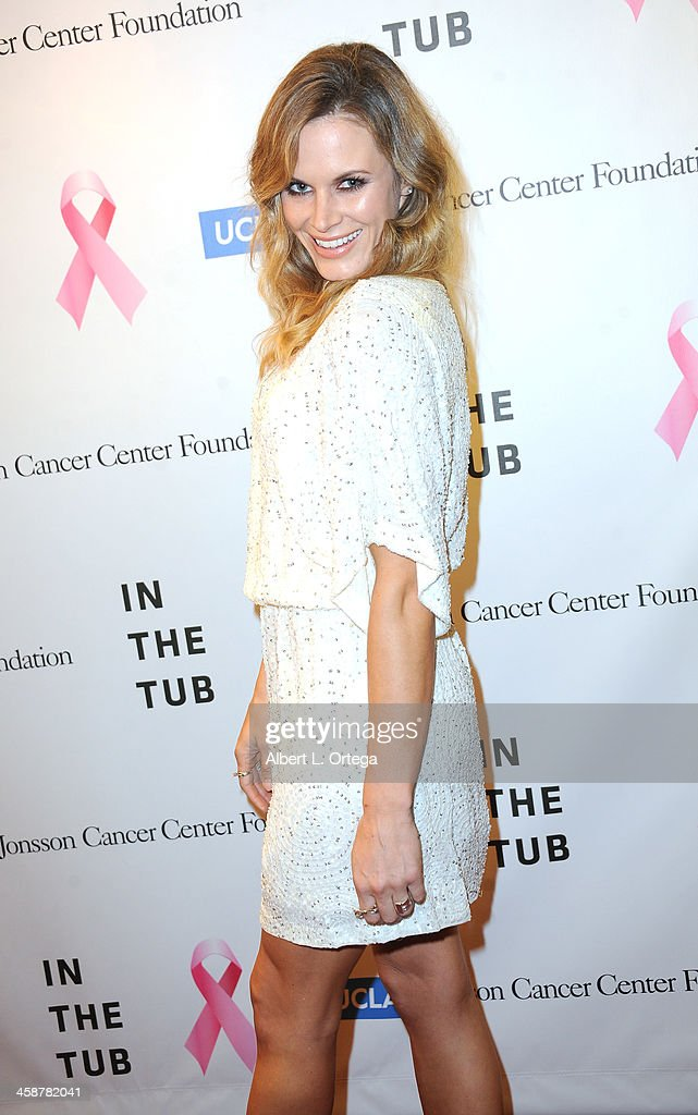 Actress Lauren Shaw attends TJ Scott's 'In The Tub' Book Party Launch to benefit UCLA's Jonsson Cancer Center for Breast Research hosted by Katrina Law of 'Spartacus' held at Light In Art on December 12, 2013 in Los Angeles, California.