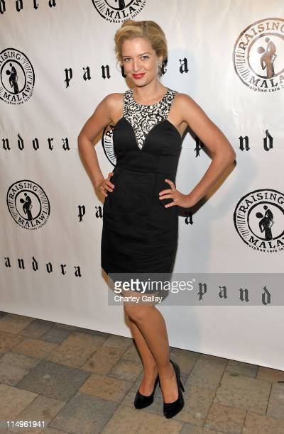 Actress Lauren Storm arrives at the grand opening of 'Pandora' at Vibiana on October 27 2009 in Los Angeles California