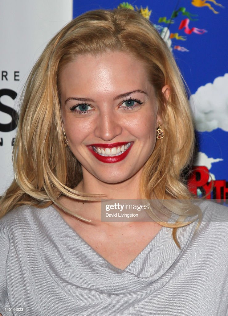 Actress <a gi-track='captionPersonalityLinkClicked' href=/galleries/search?phrase=Lauren+Storm&family=editorial&specificpeople=585710 ng-click='$event.stopPropagation()'>Lauren Storm</a> attends the opening night of 'Monty Python's Spamalot' at the Pantages Theatre on February 28, 2012 in Hollywood, California.