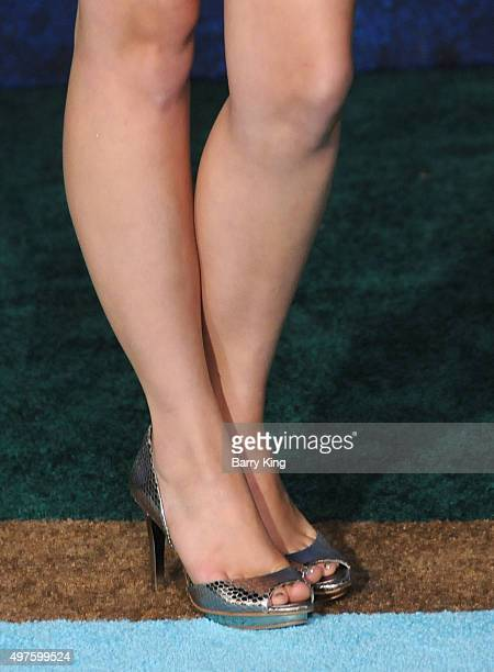Actress Lauren Taylor shoe detail attends the premiere of DisneyPixar's 'The Good Dinosaur' at the El Capitan Theatre on November 17 2015 in...