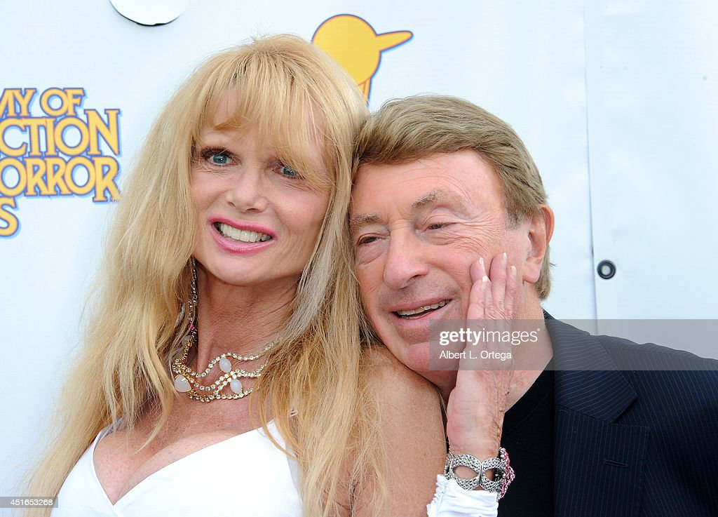 Actress Laurene Landon and producer Larry Cohen arrive for the 40th Annual Saturn Awards held at The Castaway on June 26 2014 in Burbank California