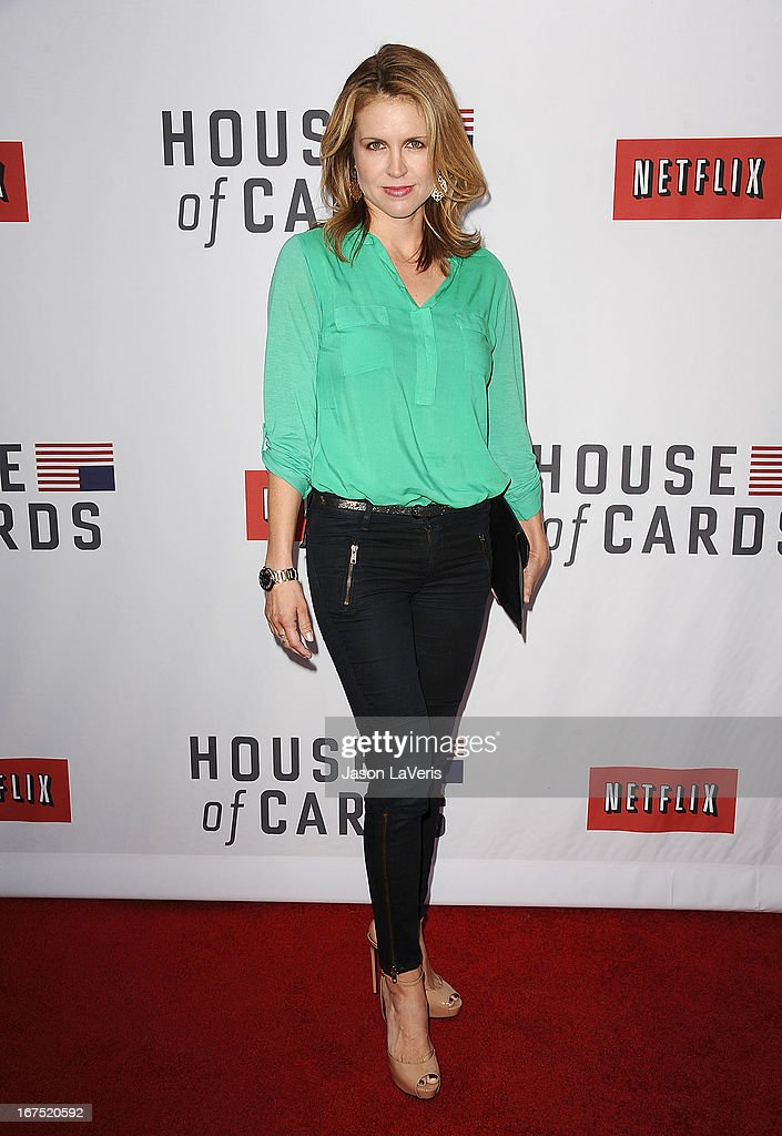 Actress Laurie Fortier attends a Q&A for 'House Of Cards' at Leonard H. Goldenson Theatre on April 25, 2013 in North Hollywood, California.