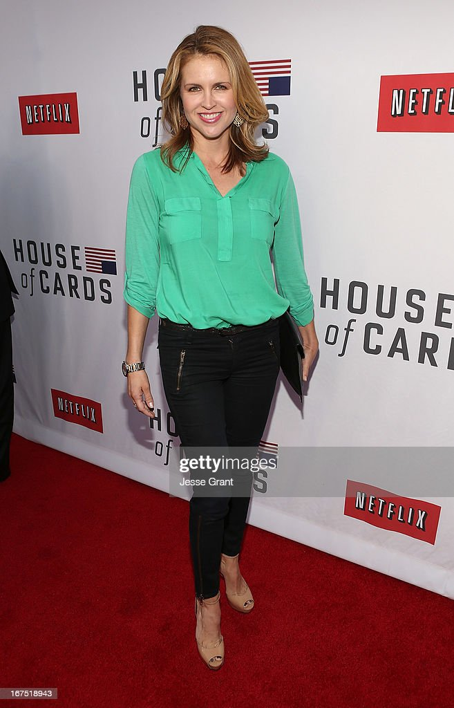 Actress Laurie Fortier attends Netflix's 'House of Cards' For Your Consideration Q&A on April 25, 2013 at the Leonard H. Goldenson Theatre in North Hollywood, California.
