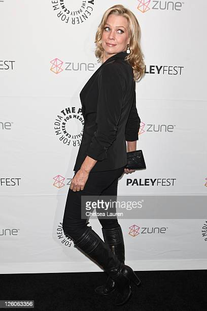 Actress Laurie Holden arrives at Paleyfest 2011 opening night presents 'The Walking Dead' at Saban Theatre on March 4 2011 in Beverly Hills California