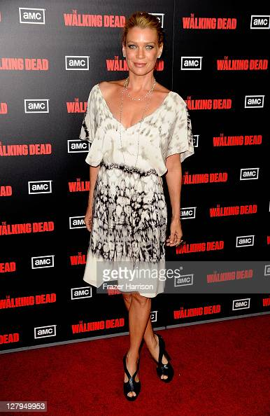 Actress Laurie Holden arrives at the premiere of AMC's 'The Walking Dead' 2nd Season at LA Live Theaters on October 3 2011 in Los Angeles California
