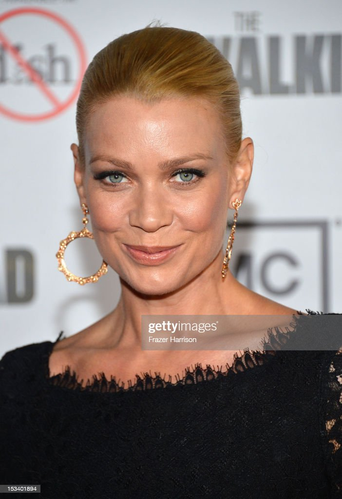 Actress Laurie Holden arrives at the premiere of AMC's 'The Walking Dead' 3rd Season at Universal CityWalk on October 4, 2012 in Universal City, California.