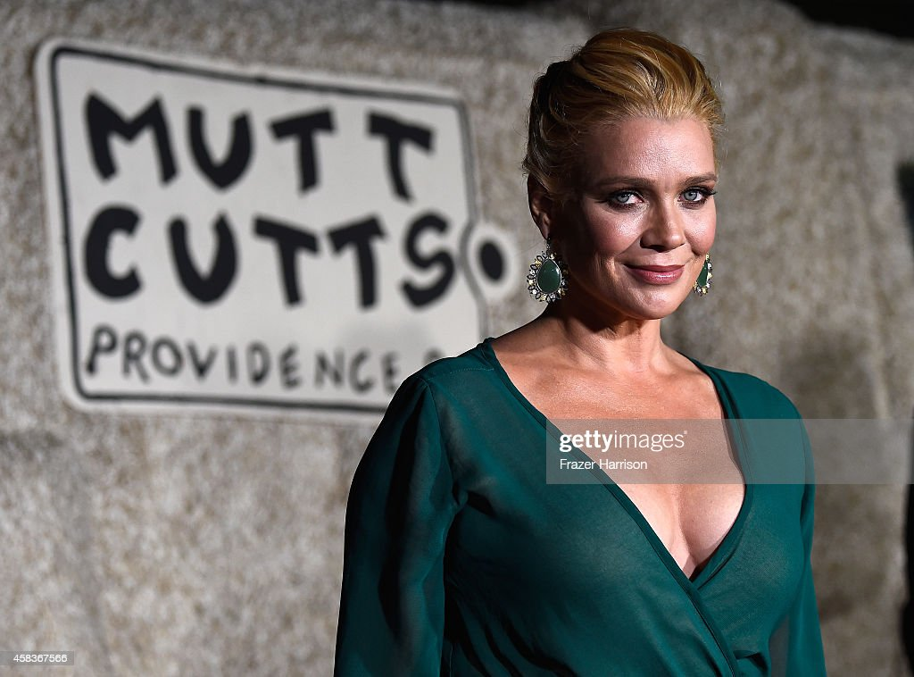 Actress Laurie Holden, arrives at the premiere of Universal Pictures and Red Granite Pictures' 'Dumb And Dumber To' on November 3, 2014 in Westwood, California.