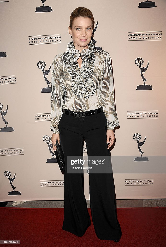 Actress Laurie Holden attends an evening with 'The Walking Dead' at Leonard H. Goldenson Theatre on February 5, 2013 in North Hollywood, California.