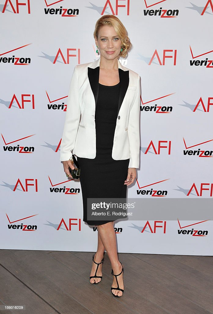 Actress <a gi-track='captionPersonalityLinkClicked' href=/galleries/search?phrase=Laurie+Holden&family=editorial&specificpeople=678388 ng-click='$event.stopPropagation()'>Laurie Holden</a> attends the 13th Annual AFI Awards at Four Seasons Los Angeles at Beverly Hills on January 11, 2013 in Beverly Hills, California.