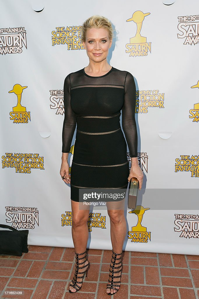 Actress <a gi-track='captionPersonalityLinkClicked' href=/galleries/search?phrase=Laurie+Holden&family=editorial&specificpeople=678388 ng-click='$event.stopPropagation()'>Laurie Holden</a> attends the 39th Annual Saturn Awards at The Castaway on June 26, 2013 in Burbank, California.