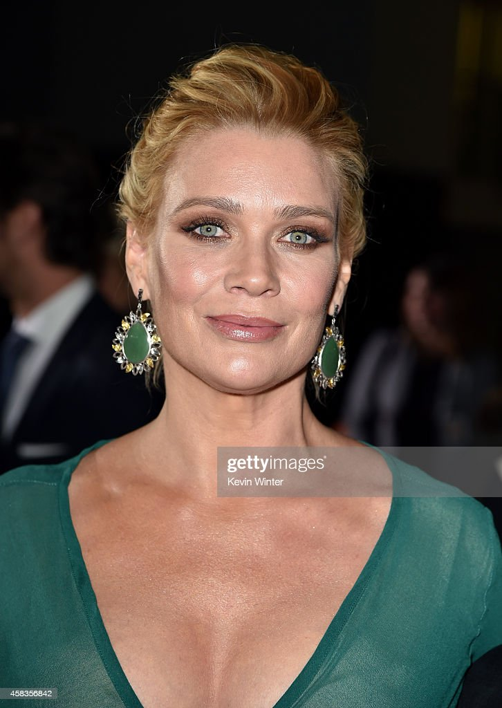 Actress Laurie Holden attends the premiere of Universal Pictures and Red Granite Pictures' 'Dumb And Dumber To' on November 3, 2014 in Westwood, California.