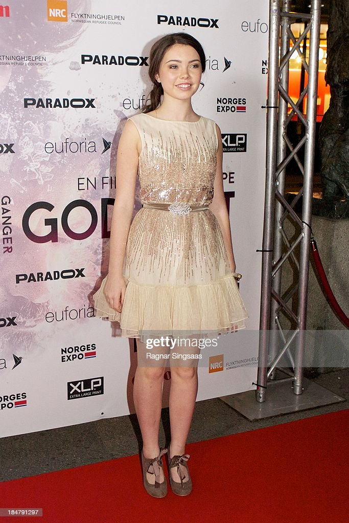 Actress Lauryn Canny attends the Oslo premiere of 'A Thousand Times Good Night' at Colosseum on October 16, 2013 in Oslo, Norway.