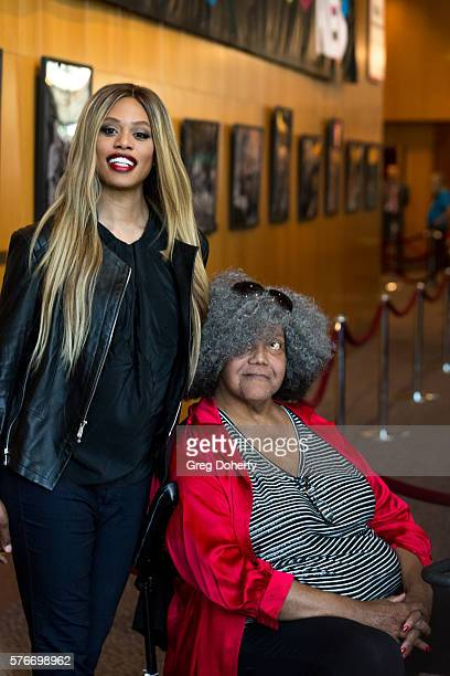 Actress Laverne Cox and Trans woman acitivist Miss Major GriffinGracy attends the Outfest 2016 Screening Of 'The Trans List' at Director's Guild Of...