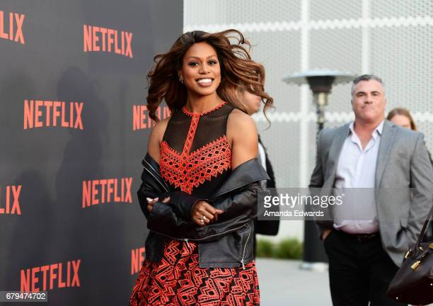 Actress Laverne Cox arrives at Netflix's 'Orange Is The New Black' For Your Consideration Event at the Saban Media Center on May 5 2017 in North...