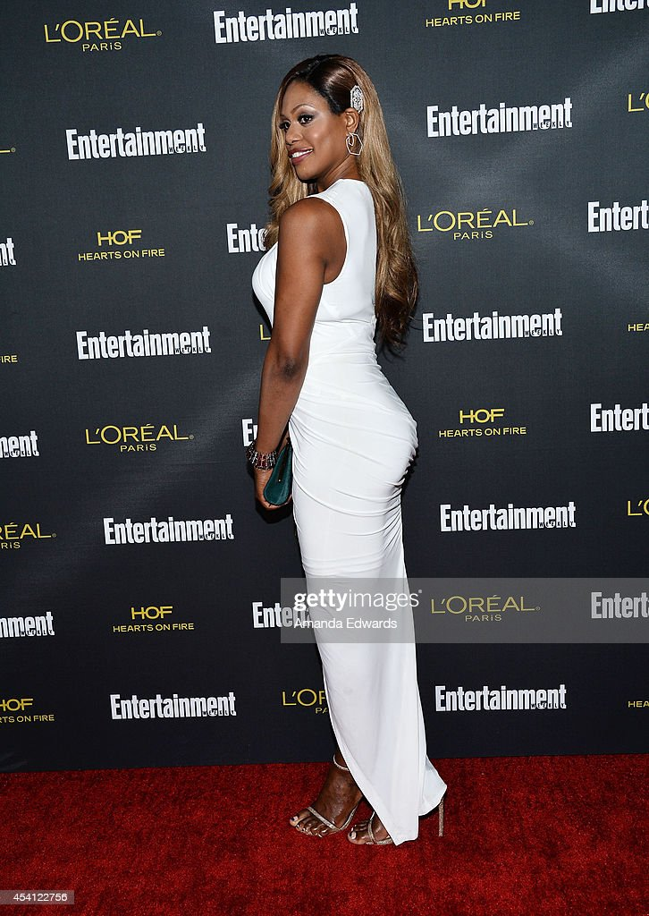Actress Laverne Cox arrives at the 2014 Entertainment Weekly Pre-Emmy Party at Fig & Olive Melrose Place on August 23, 2014 in West Hollywood, California.