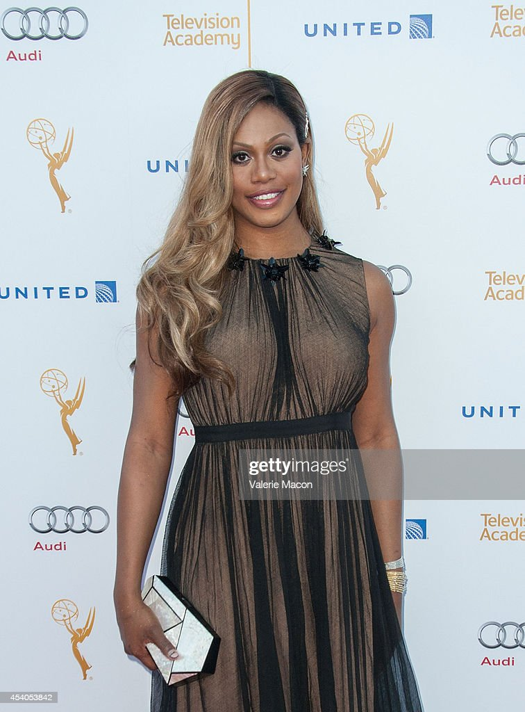 Actress <a gi-track='captionPersonalityLinkClicked' href=/galleries/search?phrase=Laverne+Cox&family=editorial&specificpeople=5848606 ng-click='$event.stopPropagation()'>Laverne Cox</a> arrives at the Television Academy's 66th Annual Emmy Awards Performers Nominee Reception at Spectra by Wolfgang Puck at the Pacific Design Center on August 23, 2014 in West Hollywood, California.