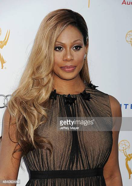 Actress Laverne Cox arrives at the Television Academy's 66th Emmy Awards Performance Nominee Reception at the Pacific Design Center on Saturday Aug...