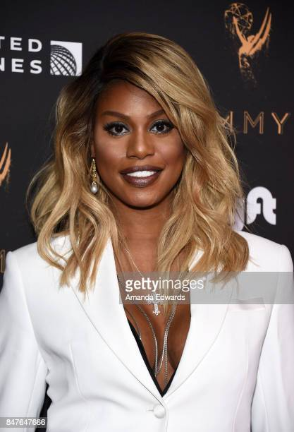 Actress Laverne Cox arrives at the Television Academy's Performers Nominee Reception at the Wallis Annenberg Center for the Performing Arts on...