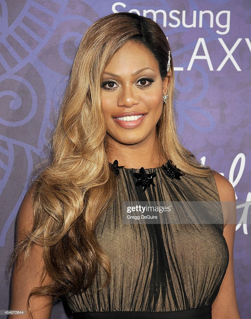 Actress <a gi-track='captionPersonalityLinkClicked' href=/galleries/search?phrase=Laverne+Cox&family=editorial&specificpeople=5848606 ng-click='$event.stopPropagation()'>Laverne Cox</a> arrives at the Variety And Women In Film Annual Pre-Emmy Celebration at Gracias Madre on August 23, 2014 in West Hollywood, California.