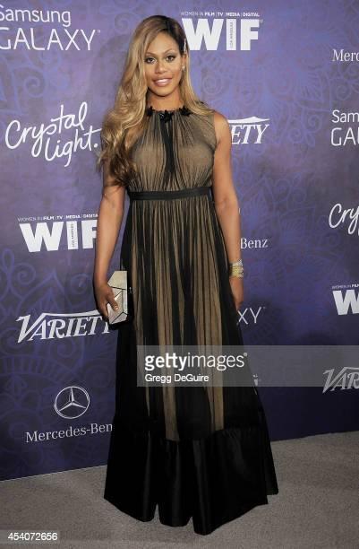 Actress Laverne Cox arrives at the Variety And Women In Film Annual PreEmmy Celebration at Gracias Madre on August 23 2014 in West Hollywood...