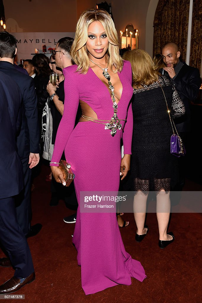 Actress Laverne Cox attends Entertainment Weekly Celebration Honoring The Screen Actors Guild Awards Nominees presented by Maybelline at Chateau...