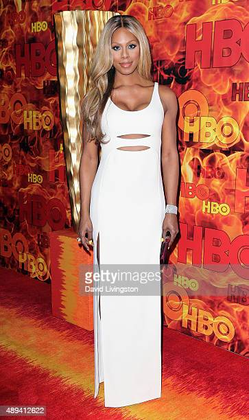 Actress Laverne Cox attends HBO's Official 2015 Emmy After Party at The Plaza at the Pacific Design Center on September 20 2015 in Los Angeles...