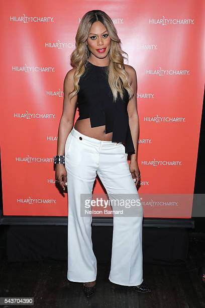 Actress Laverne Cox attends HFC NYC presented by Hilarity for Charity at Highline Ballroom on June 29 2016 in New York City