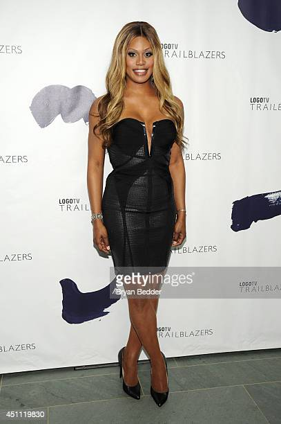 Actress Laverne Cox attends Logo TV's 'Trailblazers' at the Cathedral of St John the Divine on June 23 2014 in New York City
