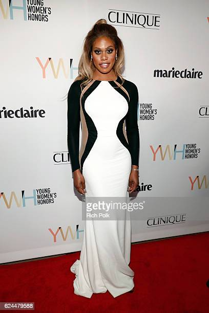 Actress Laverne Cox attends Marie Claire Young Women's Honors presented by Clinique at Marina del Rey Marriott on November 19 2016 in Marina del Rey...