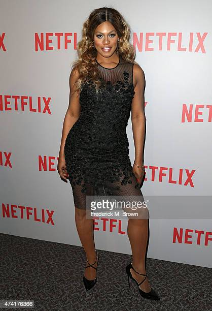 Actress Laverne Cox attends Netflix's 'Orange Is The New Black' For Your Consideration Screening and Q A at the Directors Guild Of America on May 20...