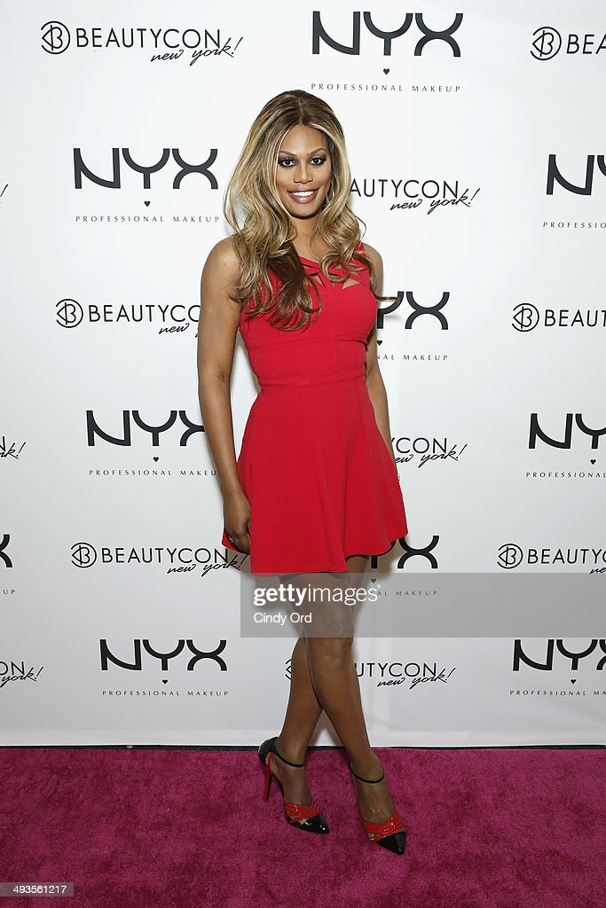 Actress <a gi-track='captionPersonalityLinkClicked' href=/galleries/search?phrase=Laverne+Cox&family=editorial&specificpeople=5848606 ng-click='$event.stopPropagation()'>Laverne Cox</a> attends NYX Cosmetics Talent Lounge At BeautyConNYC at Pier 36 on May 24, 2014 in New York City.