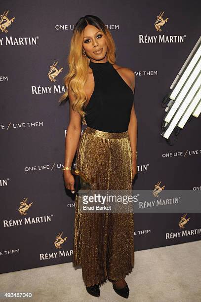Actress Laverne Cox attends One Life/Live Them presented by Remy Martin and Jeremy Renner on October 20 2015 in New York City