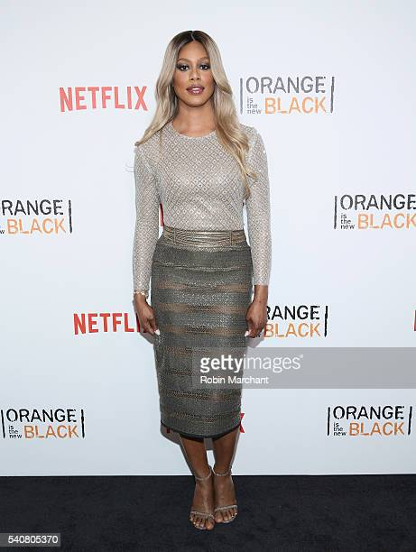 Actress Laverne Cox attends 'Orange Is The New Black' New York City Premiere at SVA Theater on June 16 2016 in New York City